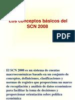 Los conceptos básicos del SCN 2008