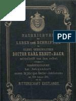 Nachrichten ueber Leben und Schriften /../Karl Ernst von Baer