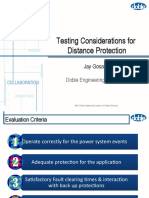 Testing considerations for distance protection latest