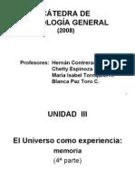 Unidad III El Universo como Experiencia (tercera parte 2008) (memoria)