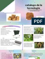 Catalogo de la tecnología, para elaboración de cajas