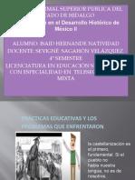 PRACTICAS EDUCATIVAS Y VOCACION DEL MAESTRO