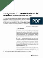 Montoya, Alfonso - La conveniencia de regular la Sociedad Unipersonal en el Perú