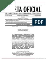 Gaceta Oficial N° 6.385 Extraordinaria