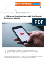 25 Fitness Youtube Channels You Should be Subscribed to