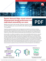 Equinix Network Edge virtual network services demonstrated strong performance across several multi-cloud connectivity use cases