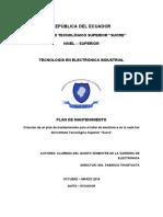 ANÁLISIS DEL ESTADO ACTUAL DEL MANTENIMIENTO EN EQUIPOS Y  MÓDULOS DEL TALLER