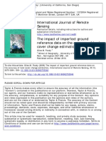 The impact of imperfect ground reference data on the accuracy of land cover change estimation