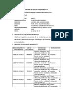 INFORME DE EVALUACIÓN DIAGNOSTICA PROFE MILTON