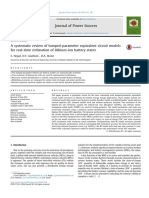 A systematic review of lumped-parameter equivalent circuit models COMPARATIVE