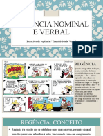 Regência Nominal e Verbal
