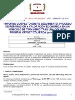 INFORME DE REPARACION DE UN GOLF