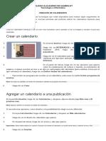creación de calendario publisher