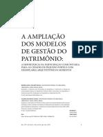 Ampliação dos Modelos de Gestão do Patrimônio