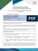 Task 3 - Solving problems of optimization models under uncertainties