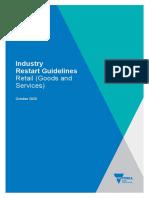 Melbourne Retail Industry Restart Guidelines