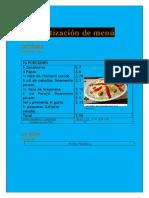 Cotización de menú Josue islas