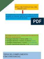COMPLEMENTO CIRCUNSTANCIAL DEL PREDICADO