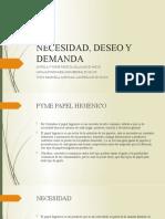 NECESIDAD, DESEO Y DEMANDA