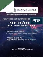 alcance de metodos numericos