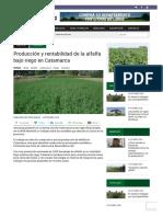 Producción y rentabilidad de la alfalfa bajo riego en Catamarca