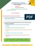 Actividad  Leo un texto descriptivo pdf