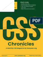 CSS Chronicles September