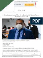 Senado aprova por 57 a 10 indicação de Kassio Nunes Marques para o STF - 21_10_2020 - UOL Notícias