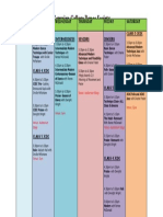 Schedule Jan. 23 to 28