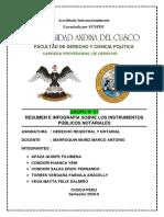 GRUPO Nro 07- RESUMEN- INSTRUMENTOS PÚBLICOS NOTARIALES