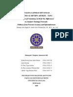 CRITICAL REVIEW ARTIKEL - Peramalan Keuangan