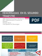 HEMORRAGIAS EN EL SEGUNDO TRIMESTRE