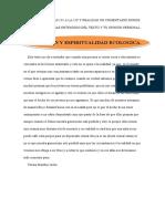 EDUCACIÓN Y ESPIRITUALIDAD ECOLOGICA