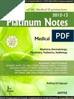 Platinum Notes - Radiology