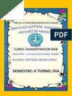 TAREA DE ADMINISTRACION WEB