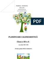 Planificare Calendaristica an Scolar 2020 2021