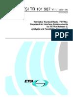 TETRA Air Interface Enhancements HANDOVER
