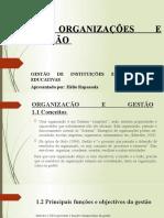 Organizações e Gestão