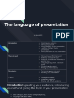 The Language of Presentation