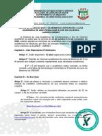 Edital Processo Seletivo 2020/1.