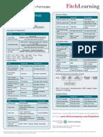 FL CFA Formula Sheet FRA 2020