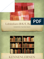 PRESENTATION, Lektürekurs 1