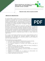 Hospital Pablo F Lacoste de Eduardo Castex- explicación aislamiento social