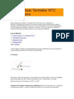 Como utilizar Termistor NTC com Arduino