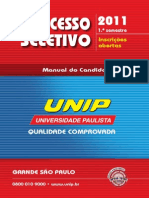 Manual do candidato UNIP capital2011