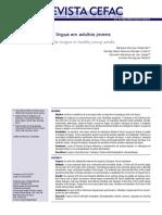 Avaliação clínica da língua em adultos jovens