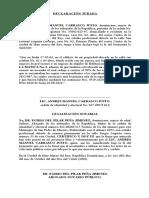 DECLARACIÓN JURADA PARA LA SUPREMA CORTE DE JUSTICIA, EXP. 2012-879 Y 2013-907.