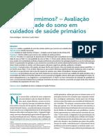 Avaliação da Qualidade do Sono em Cuidados de Saúde Primários