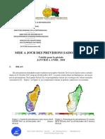 Prevision Precipitation Temperature Janvier Avril 2018