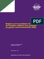 9968_Rapport sur les pratiques du secteur de l'aviation relatives aux systèmes de gestion envrironnementale (SGE).- 1ère éd.- 2012
